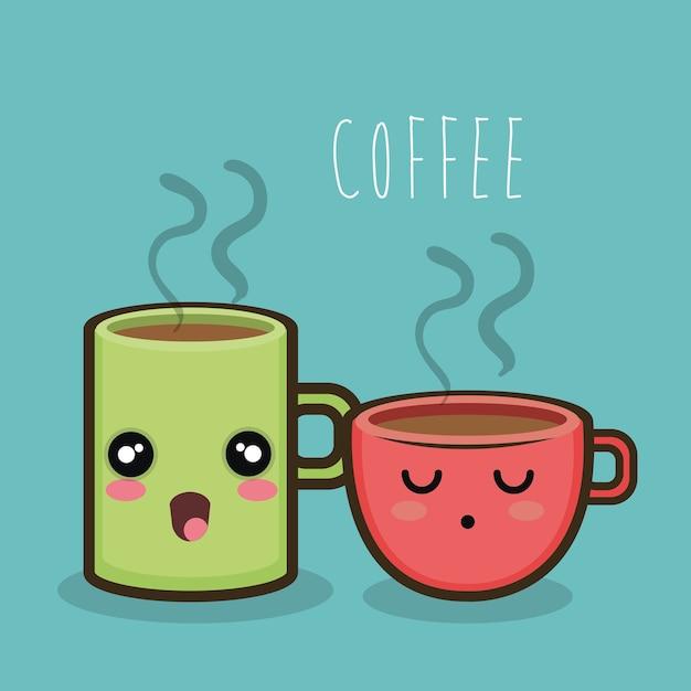 caneca de xícara de café dos desenhos animados quente baixar