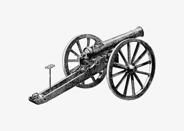 Canhão do campo de batalha alemão Vetor grátis