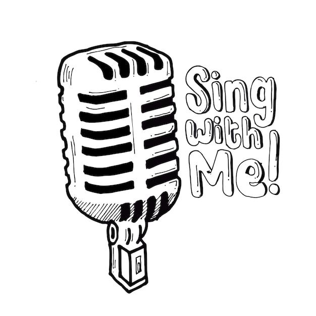 Cante comigo Vetor Premium