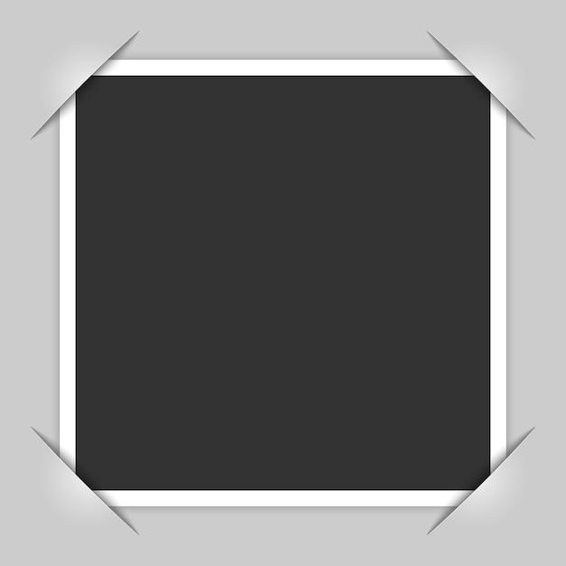 Cantos da moldura da foto Vetor Premium