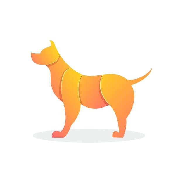 Cão de forma moderna Vetor Premium