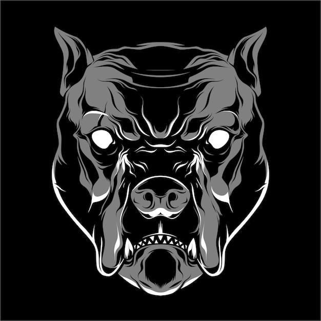 Cão touro Vetor Premium