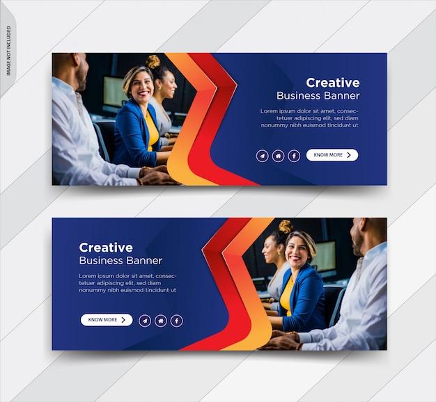 Capa de facebook de negócios mídias sociais post banner Vetor Premium