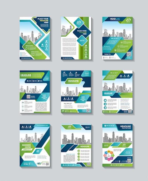 Capa de revista, folheto ou brochura em a4 Vetor Premium