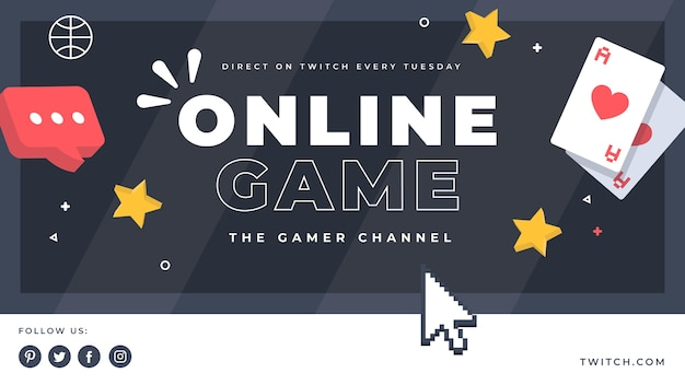 Capa do youtube de videogame Vetor grátis