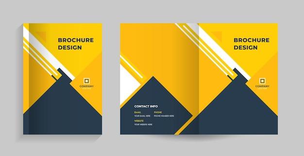 Capa e contracapa do folheto, perfil da empresa, proposta, revista do relatório anual Vetor Premium