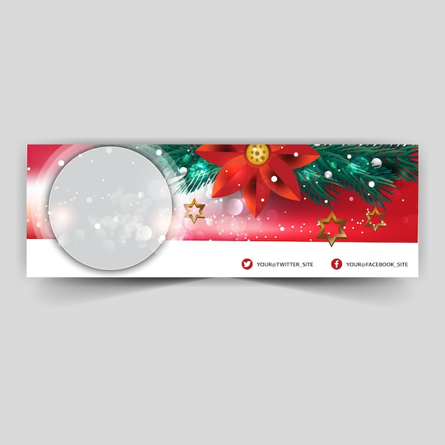 Capa Facebook Feliz Natal Vetor Premium