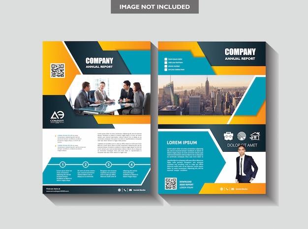 Capa poster a4 catálogo livro folheto panfleto layout relatório anual modelo de negócio Vetor Premium