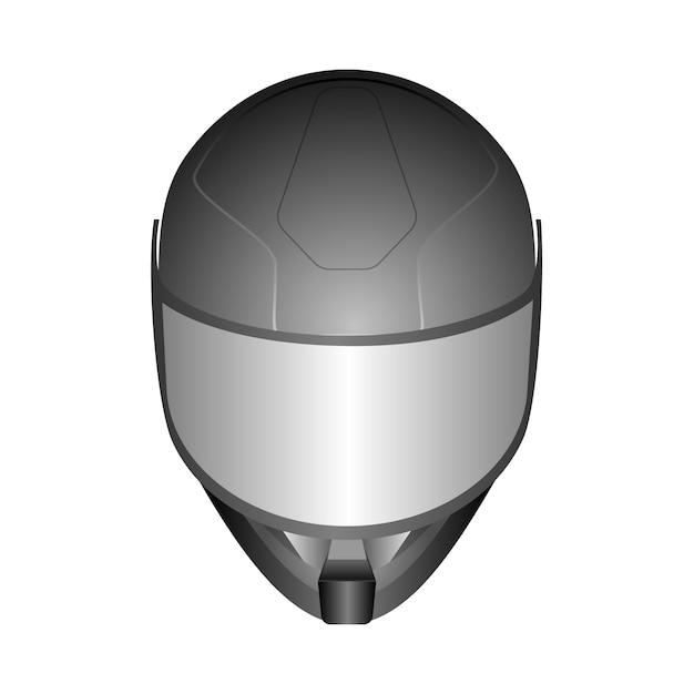 Capacetes de corrida 3d realista com viseira de vidro Vetor Premium