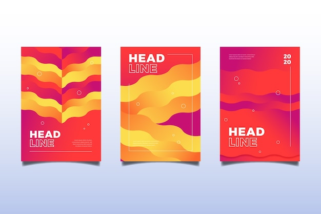 Capas coloridas onduladas abstratas Vetor grátis