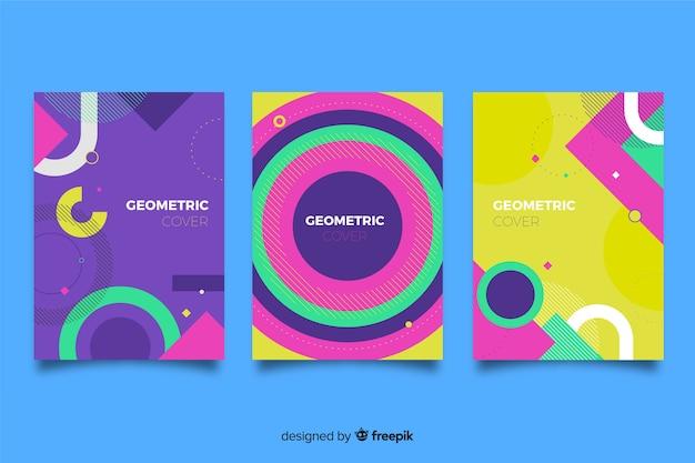 Capas com desenho geométrico Vetor grátis