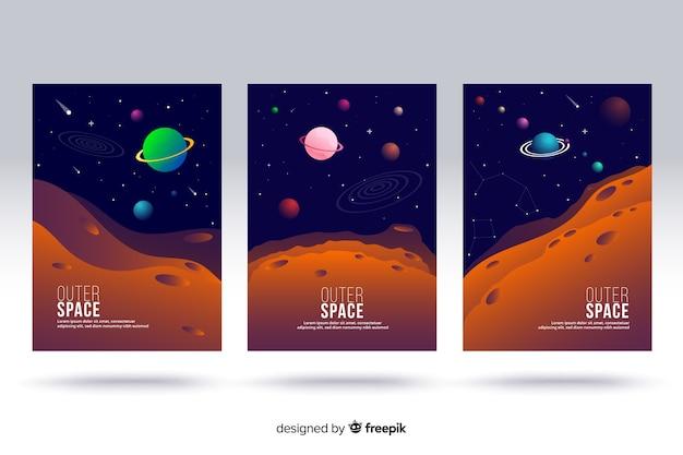 Capas de espaço exterior Vetor grátis