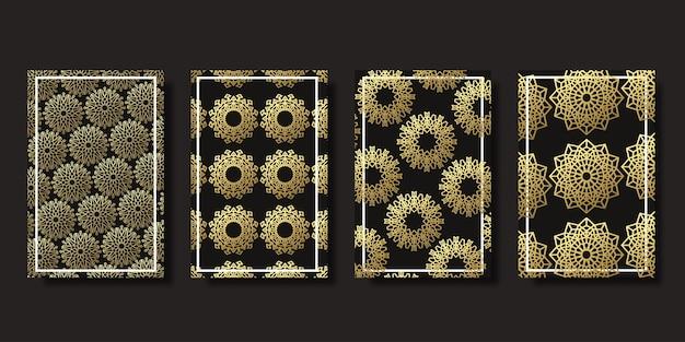 Capas ornamentais isoladas realistas de ramadan kareem Vetor Premium