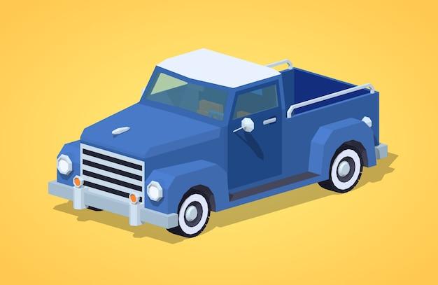Captador retrô azul Vetor Premium