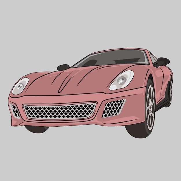 Car illustration super car Vetor Premium