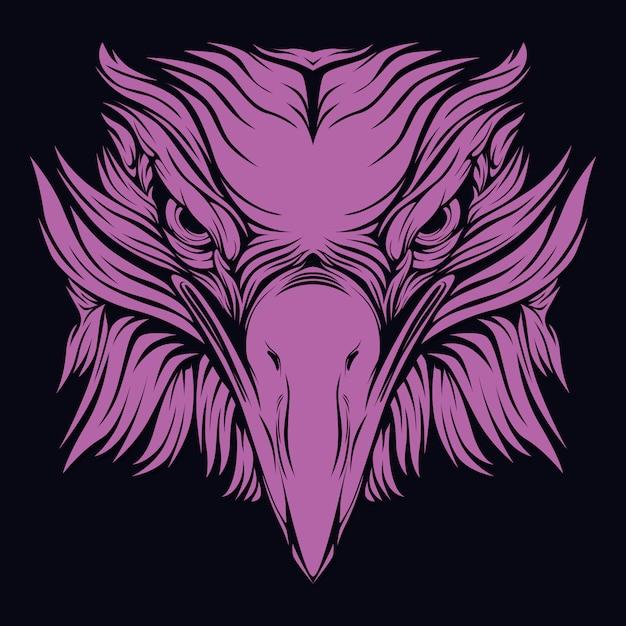 Cara de águia Vetor Premium