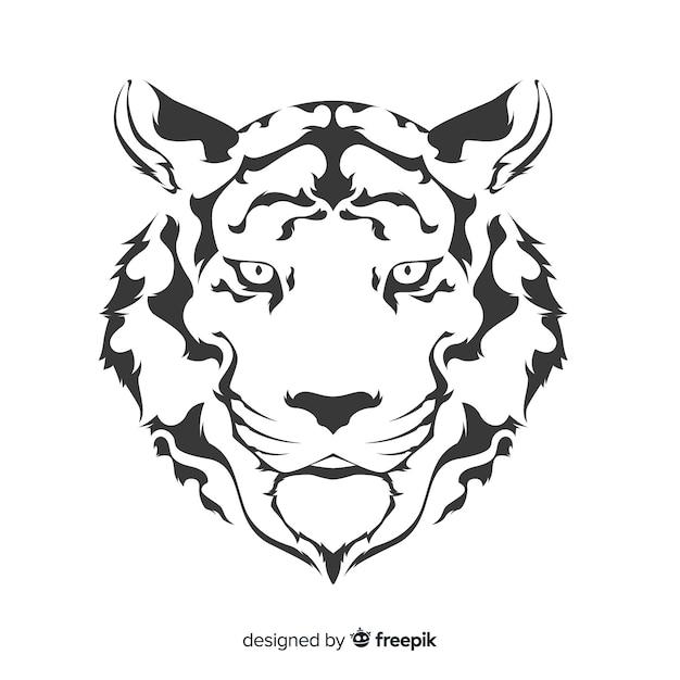 Cara de tigre Vetor grátis
