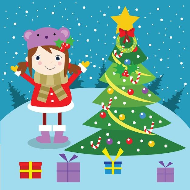 Carater De Desenhos Animados De Ferias De Fe Do Natal Feliz Natal