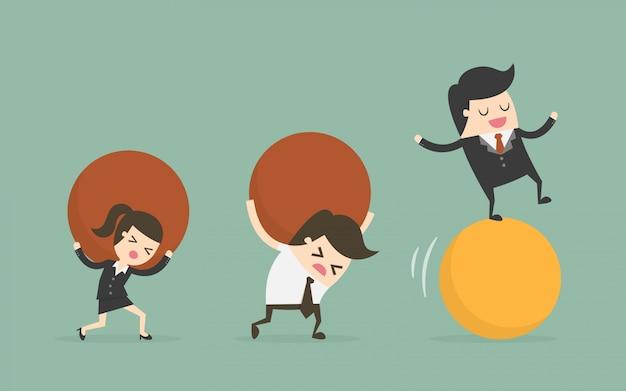 Caráteres empresariais com bolas Vetor grátis