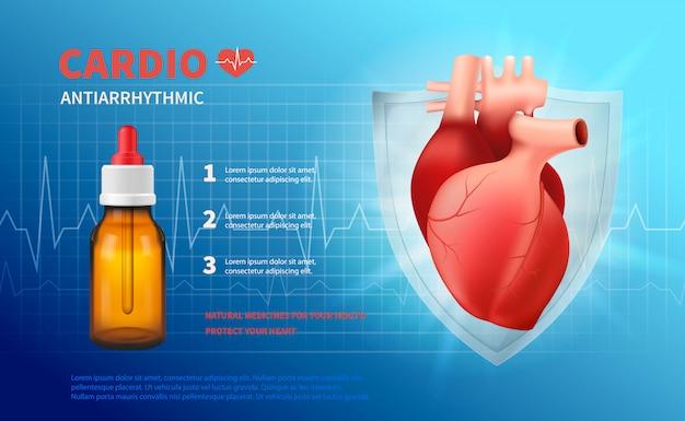 Cardio anti cartaz arrítmico Vetor grátis