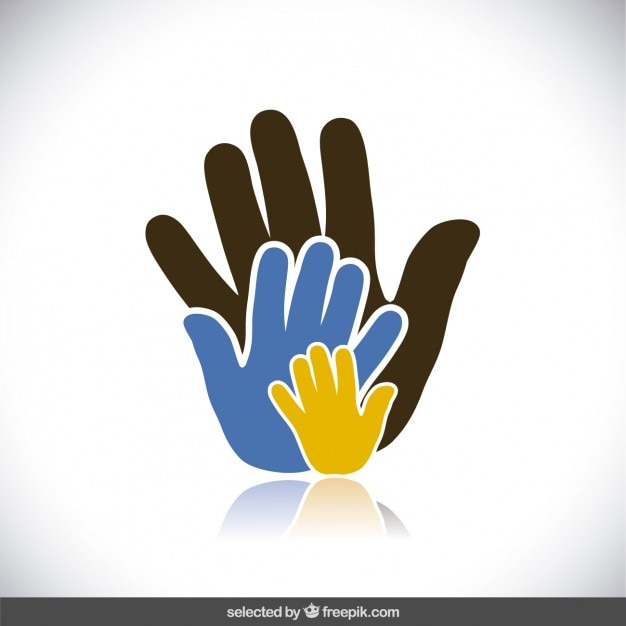 Caridade mãos Vetor grátis