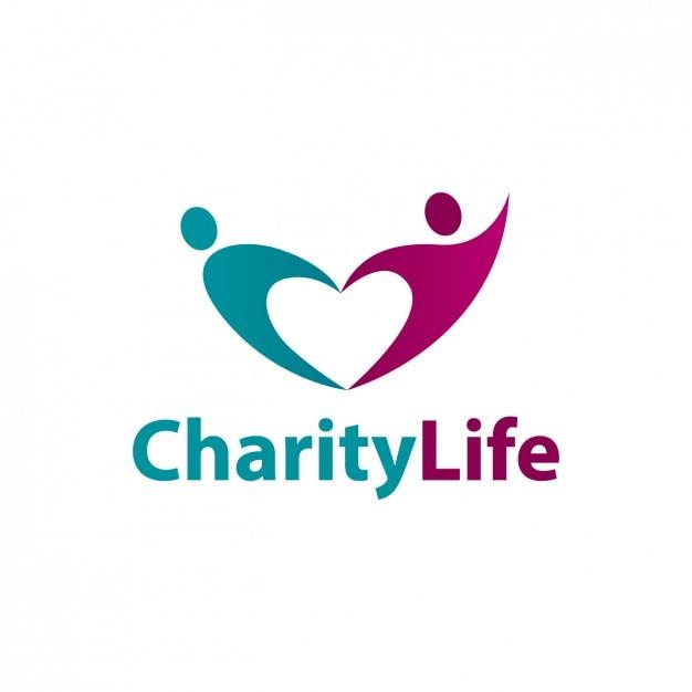 Caridade vida logotipo abstrato Vetor grátis