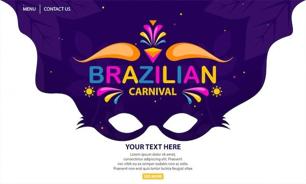 Carnaval brasileiro Vetor Premium