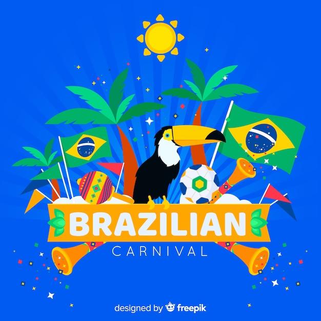 Carnaval brasileiro Vetor grátis