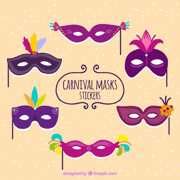 Aparador Retro Verde ~ Carnaval máscara roxa adesivos Baixar vetores grátis