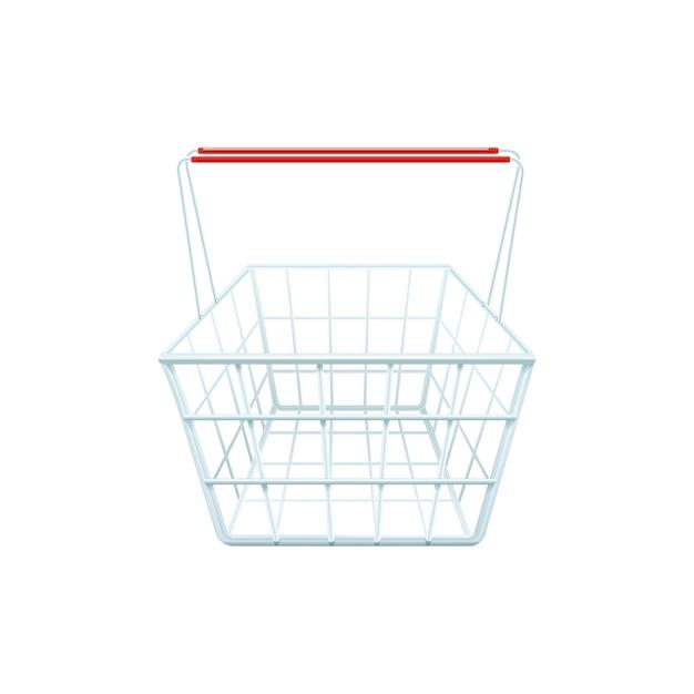 Carrinho de compras para fazer compras em um shopping center ou supermercado realista Vetor grátis