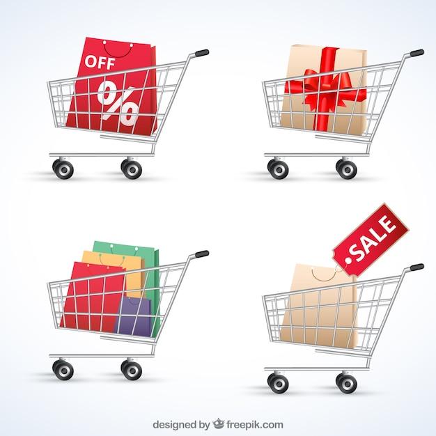 Carrinhos de compras Vetor grátis