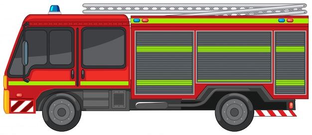 Carro de bombeiros em branco Vetor grátis