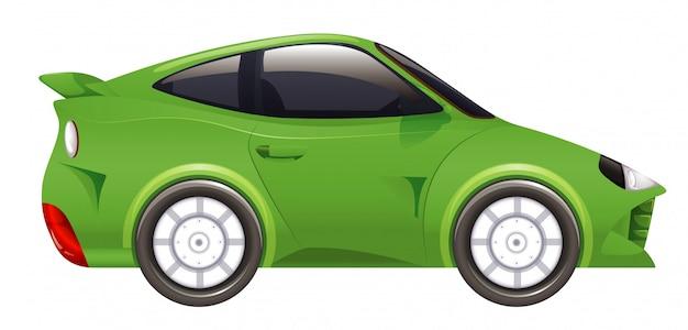 Carro de corrida na cor verde na isolada Vetor grátis