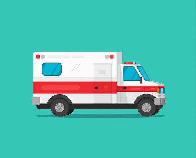 Carro de emergência de ambulância ou veículo médico Vetor Premium