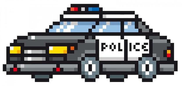 Carro De Policia Dos Desenhos Animados Vetor Premium