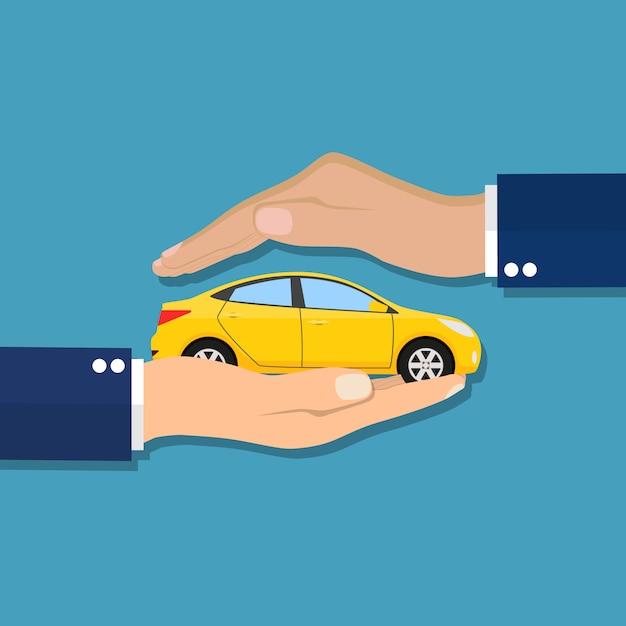 Carro de segurança de proteção. serviço de segurança. Vetor Premium