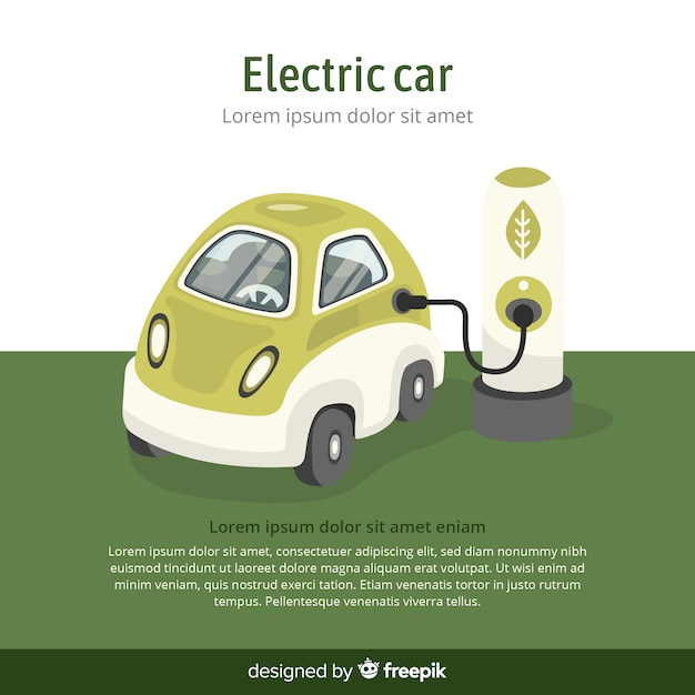 Carro elétrico Vetor grátis