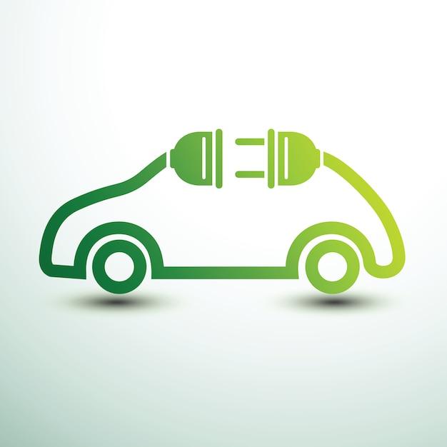 Carro elétrico Vetor Premium
