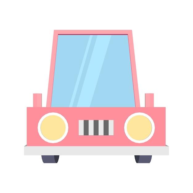 Carro engraçado dos desenhos animados Vetor Premium