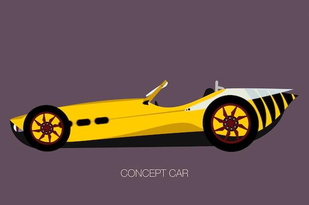 Carro esporte de vespa, carro de vetor de aranha, cabriolet Vetor Premium