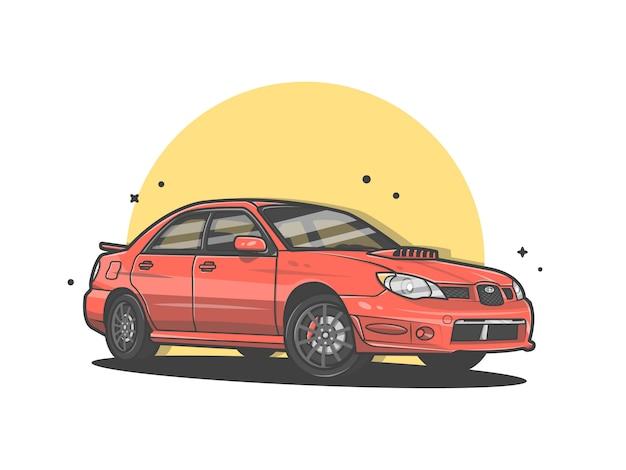 Carro esporte vector icon ilustração Vetor Premium