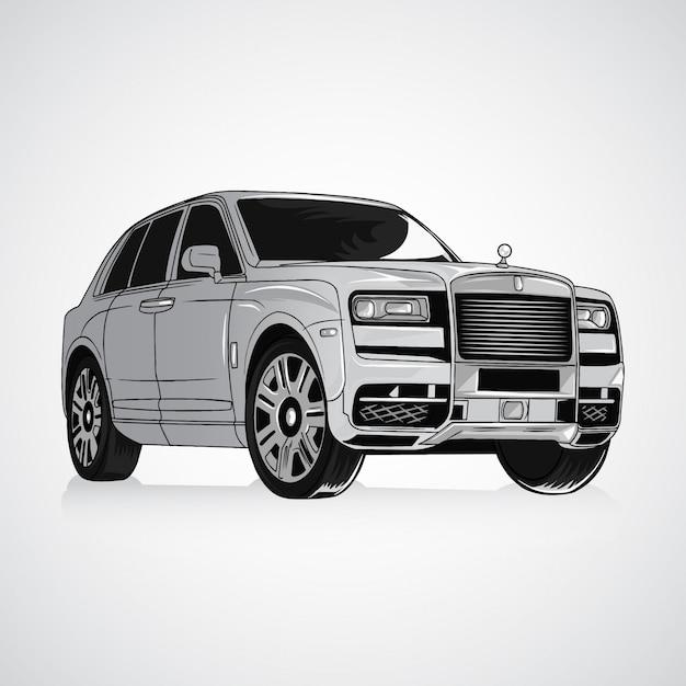 Carro real Vetor Premium