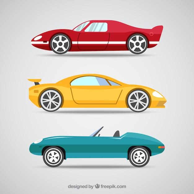 carros esporte dos desenhos animados baixar vetores grátis