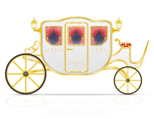 Carruagem real para transporte de pessoas Vetor Premium