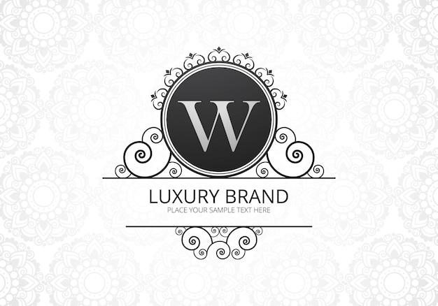 Carta criativa de luxo premium w logotipo para empresa Vetor grátis