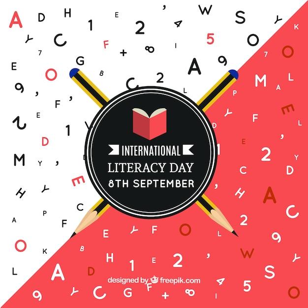 Carta do dia da alfabetização internacional Vetor grátis