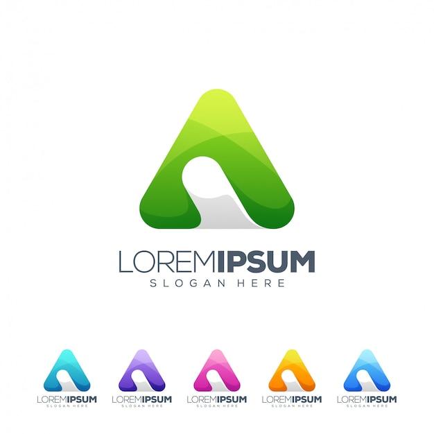 Carta um ilustrador de vetor de design de logotipo Vetor Premium