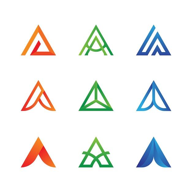 Carta, um, logotipo, cobrança Vetor Premium