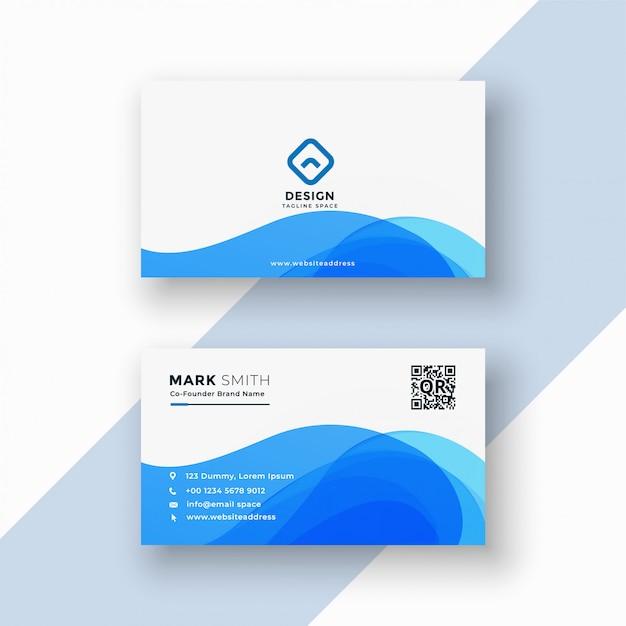 Cartão à moda azul abstrato Vetor grátis