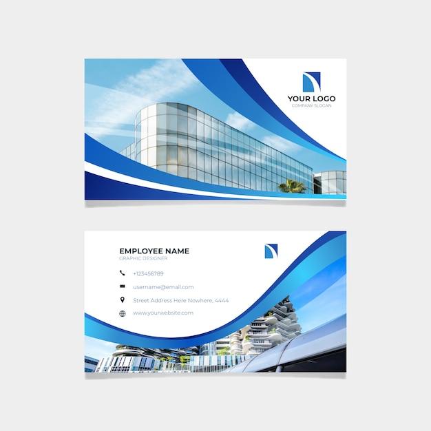 Cartão abstrato com foto Vetor grátis